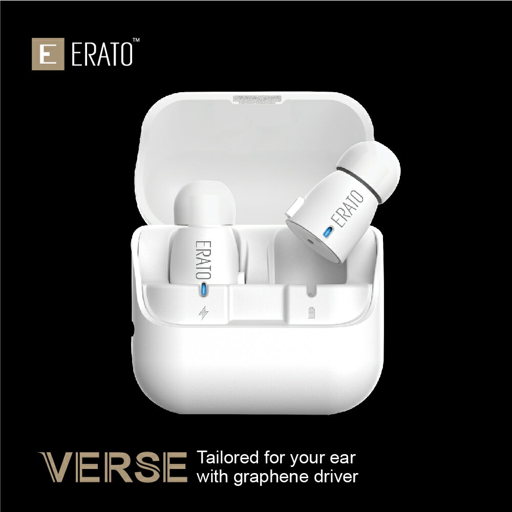 ERATO Verse Wireless Bluetooth Earbuds - White (AEVE00WH) with Portable Charging Case 0