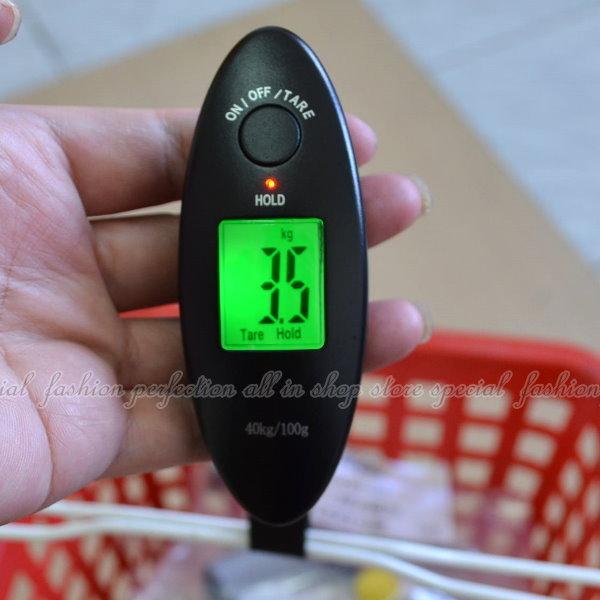 攜帶型迷你電子行李秤WH-A15 液晶背光LCD手提電子秤 拉力秤【DB423】◎123便利屋◎