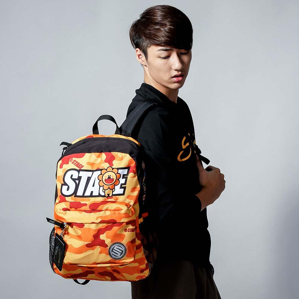 STAGE BAG × UNCLES FRIENDS LEO BACKPACK 橘色 獅子座 1