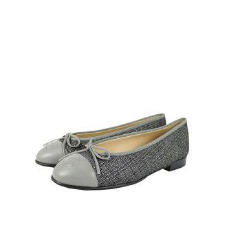 【CHANEL】軟尼 娃娃鞋(灰色) CH51030008