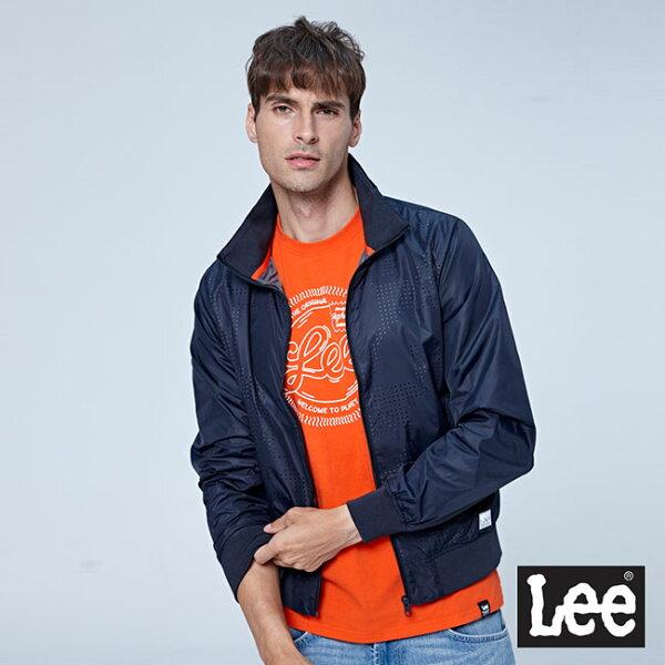 Lee幾何扎洞休閒外套--黑色
