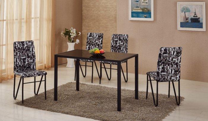 【尚品傢俱】JF-958-1 韋特 4 尺玻璃餐桌