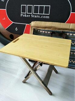 居家露營戶外 砧板手提摺疊竹桌(附收納袋)