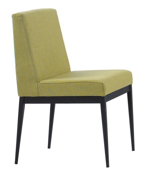 ~尚品傢俱~JF~988~6 卡特黑腳布餐椅~綠色