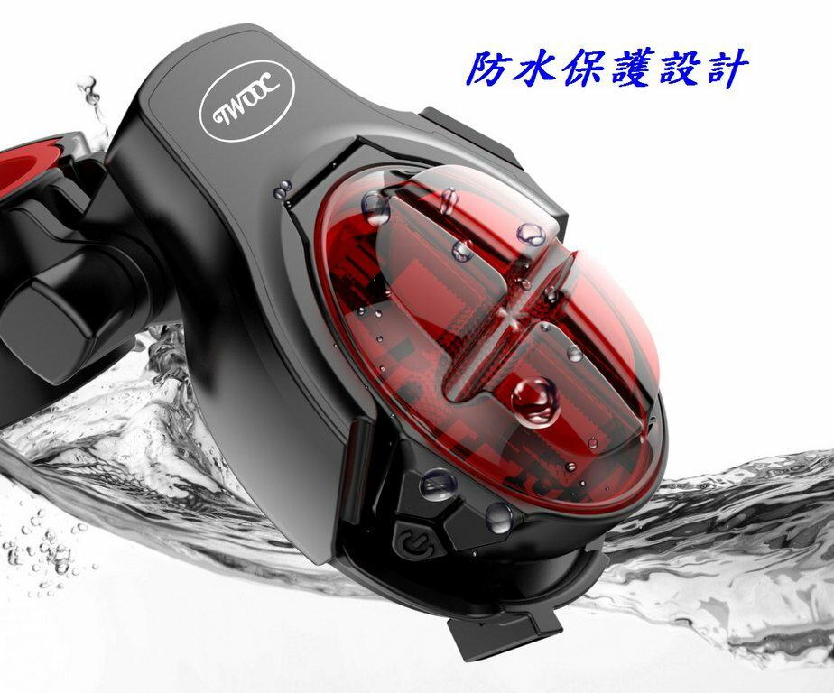 《意生》【USB充電】智能剎車感應尾燈 警示燈 + 煞車燈 TWOOC 單車後燈 腳踏車USB充電燈 自行車尾燈 車尾燈 4