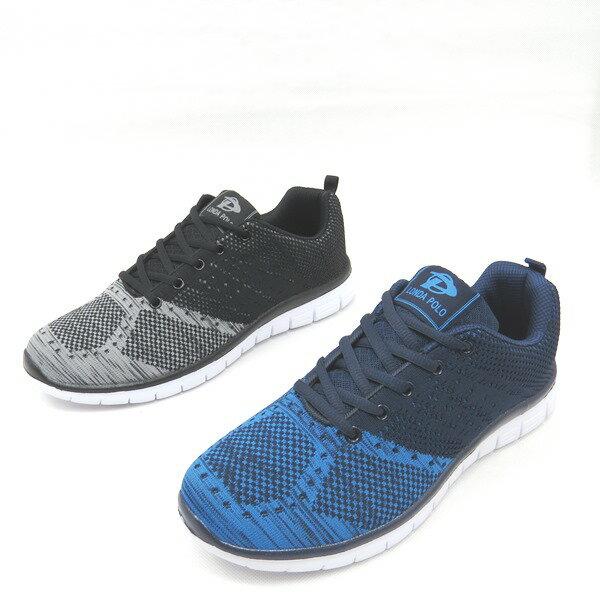 彩虹屋美鞋:*免運*男舒適透氣鞋帶慢跑休閒運動鞋24-PB7658(藍黑)*[彩虹屋]*現+預