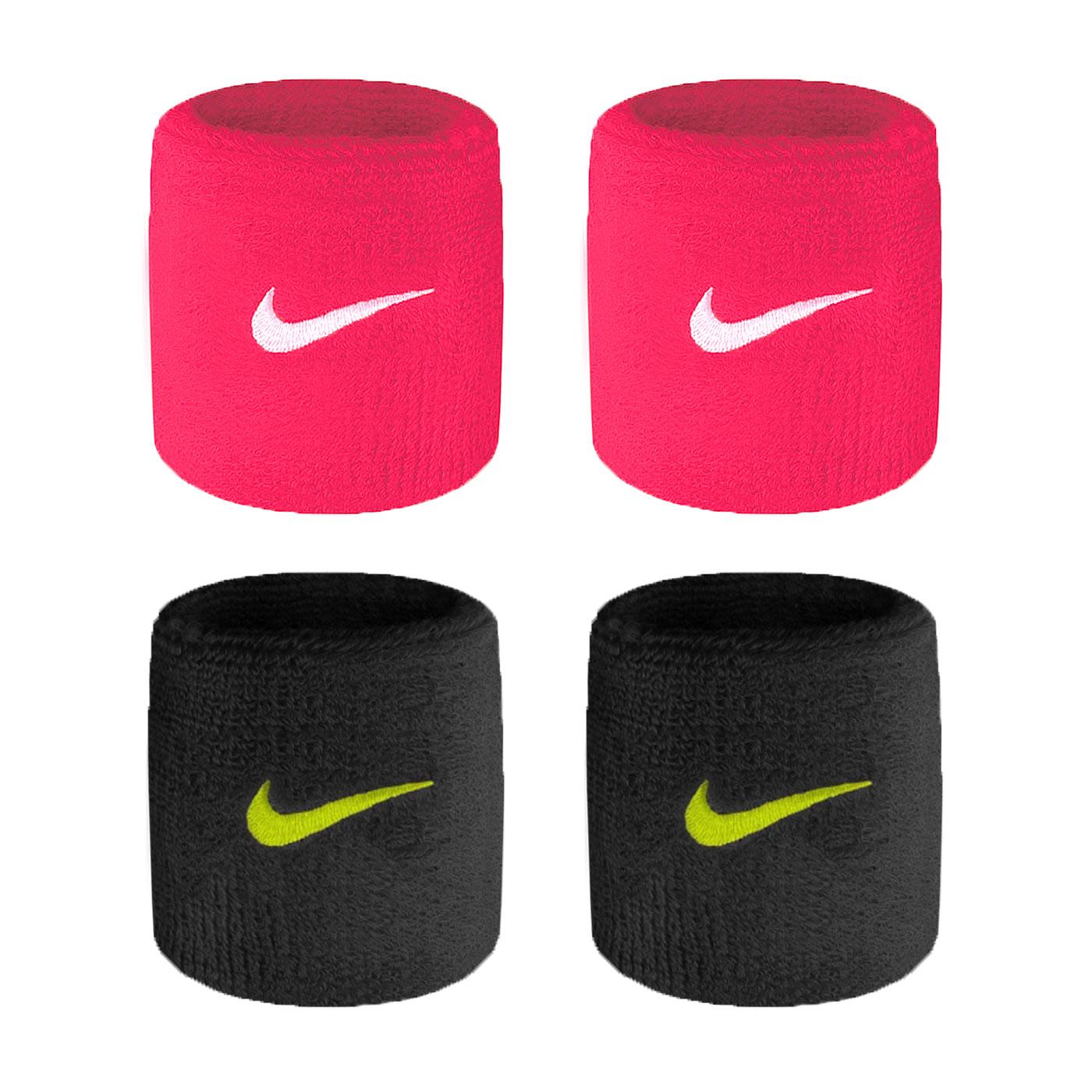 NIKE SwooSh 單色腕帶(慢跑 路跑 籃球 網球 羽球 一雙入【NNN04】≡排汗專家≡