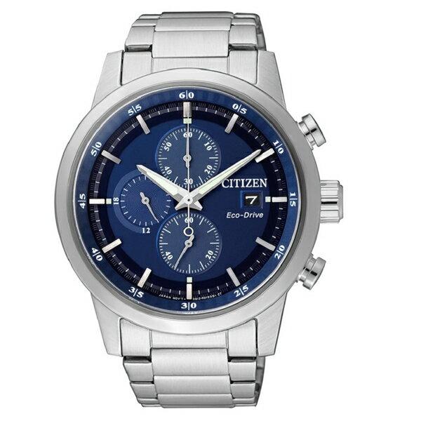 名品鐘錶城 CITIZEN Eco-Drive 亞洲限定版 經典都會 光動能時尚腕錶-藍/ 43mm CA0610-52L
