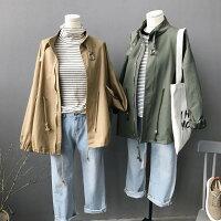 外套推薦到[全店免運] BF中長款工裝風衣外套 /  樂天時尚館