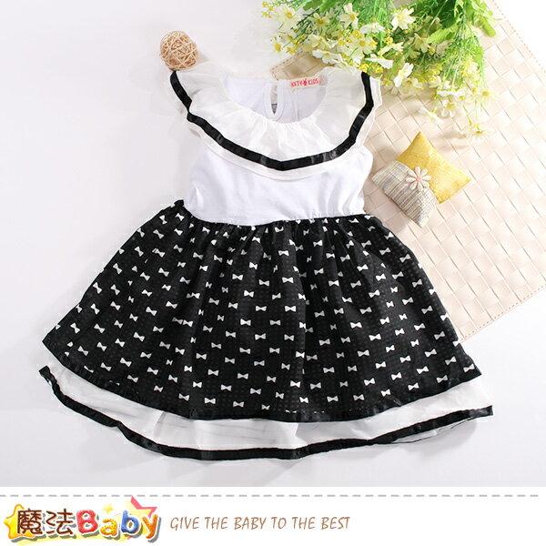 女童裝夏季無袖洋裝魔法Baby~k50787