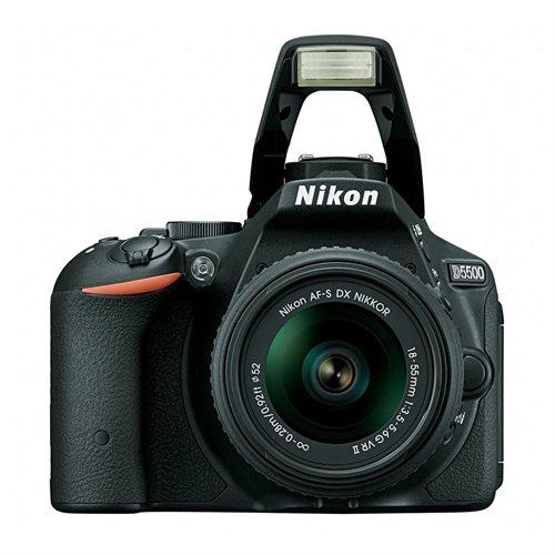 "Nikon D5500 24.2 Megapixel Digital SLR Camera with Lens - 18 mm - 55 mm - 3.2"" Touchscreen LCD - 16:9 - 3.1x Optical Zoom - i-TTL - 6000 x 4000 Image - 1920 x 1080 Video - HDMI - PictBridge - HD Movie Mode - Wireless LAN 2"