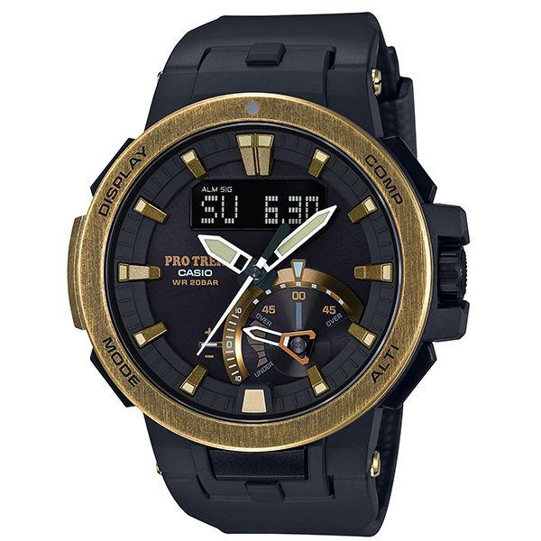 CASIO PROTREK PRW-7000V-1 高階登山雙顯電波腕錶/52mm