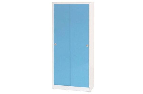 【石川家居】871-06(藍白色)拉門鞋櫃(CT-323)#訂製預購款式#環保塑鋼P無毒防霉易清潔