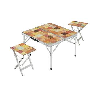 【露營趣】中和 Coleman 自然風野餐桌椅組 休閒桌 小桌 茶几 摺疊桌 野餐桌 CM-7002