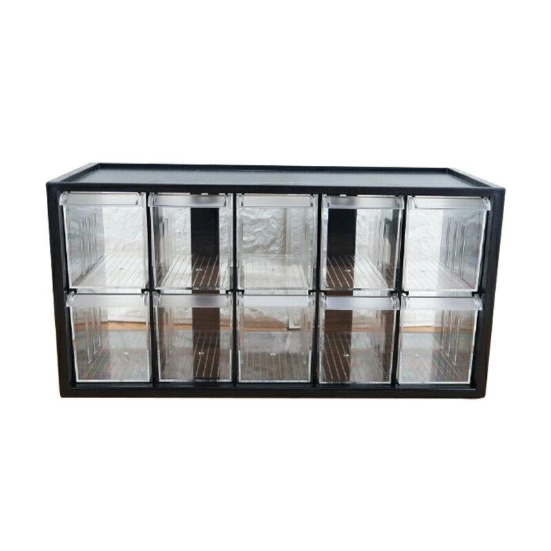 樹德零件分類箱10小格抽屜文具飾品小物收納箱書桌收納盒A9-510-大廚師百貨