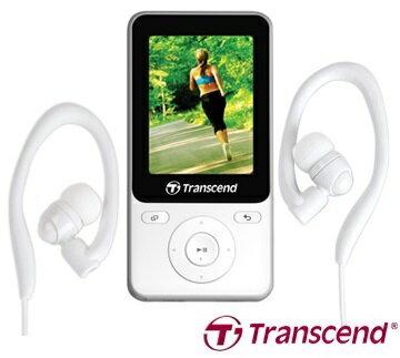 【Transcend】創見 MP3 8G MP710 健身模式 G-Sensor計步器 TS8GMP710BK 白/黑