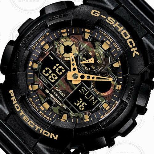 國外代購 CASIO G-SHOCK GA-100CM-4A 叢林迷彩 防水 手錶 腕錶 電子錶 男女錶 迷彩紅 1