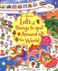 【超取免運】Usborne Lots of things to spot Around the World 尋找遊戲貼紙書-世界*夏日微風*