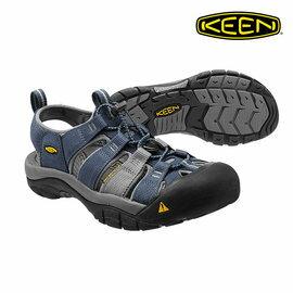 《台南悠活運動家》 KEEN 美國 男款運動涼鞋 1012206 灰/藍