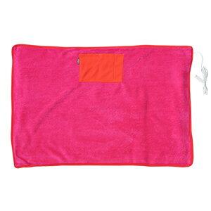 日本 Elaice 絨毛USB發熱毯 - 亮桃紅