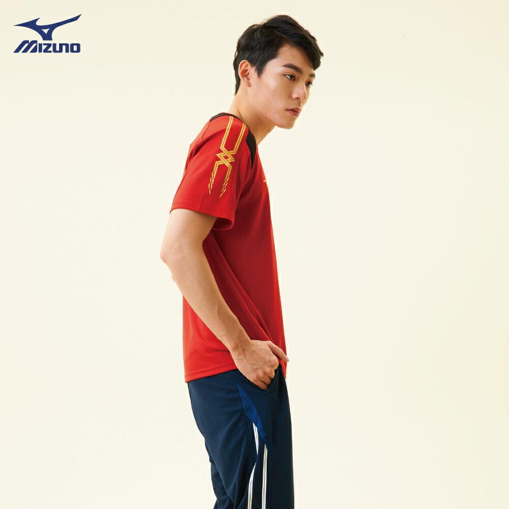 32TA800362(紅)抗紫外線吸汗快乾材質 男短袖T恤【美津濃MIZUNO】 4