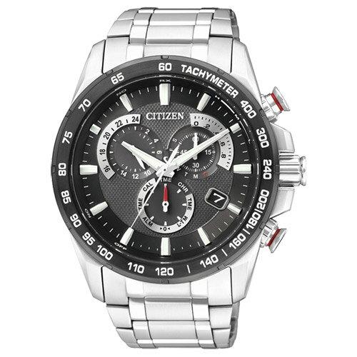 CITIZEN星辰AS8024-50E鈦風翱翔電波鈦金屬腕錶/黑面43mm