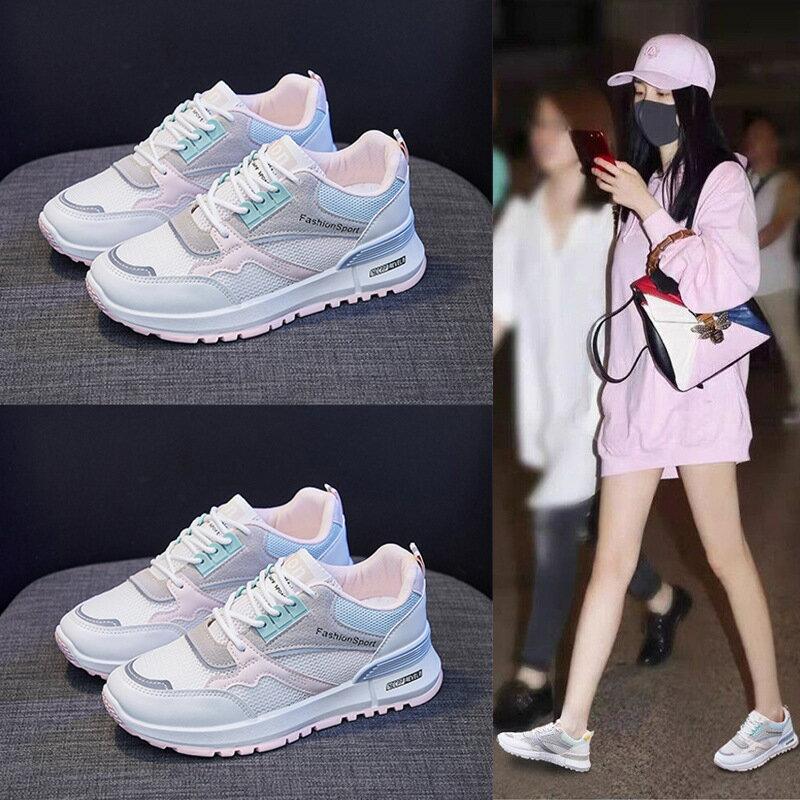 ins透氣阿甘鞋女2021夏季新款網面運動鞋女學生跑步休閒鞋YB8912