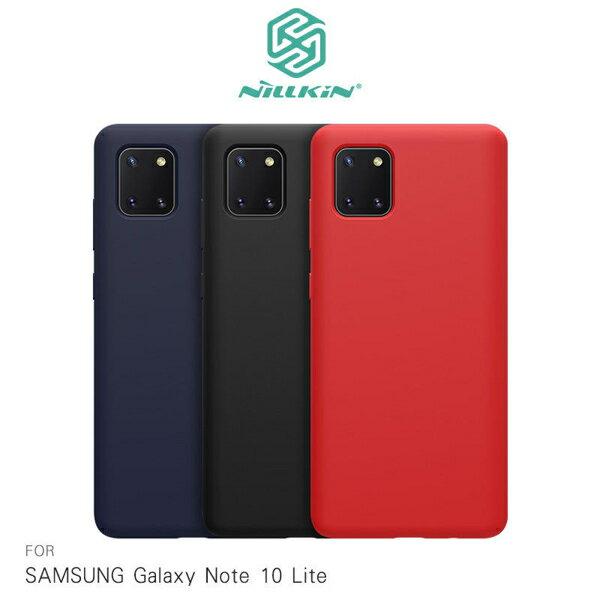 【愛瘋潮】99免運  SAMSUNG Galaxy Note 10 Lite 感系列液態矽膠殼 背殼 鏡頭增高