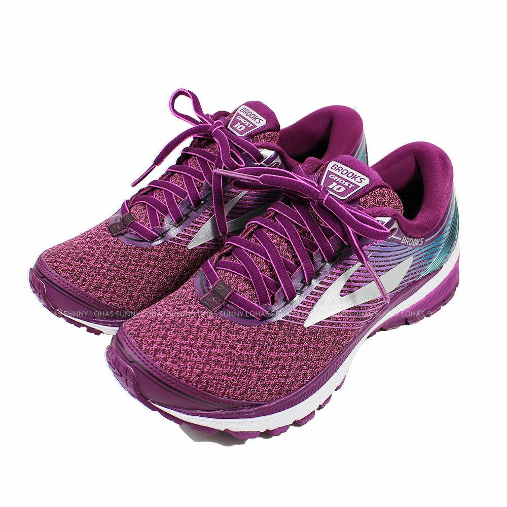 陽光運動館 (B6) BROOKS 女鞋 慢跑鞋 GHOST 10 運動鞋 避震緩衝 1202461B511 紫紅 [陽光樂活]