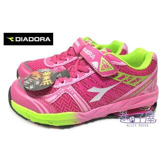 【巷子屋】義大利國寶鞋-DIADORA迪亞多納 女童3E寬楦彈簧運動慢跑鞋 [3092] 桃紅 超值價$398