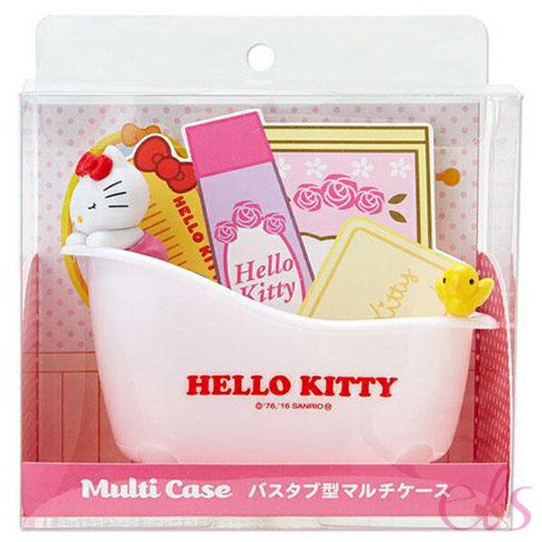 日本 凱蒂貓 HELLO KITTY  多功能置物盤/浴缸造型收納盒 ☆艾莉莎ELS☆