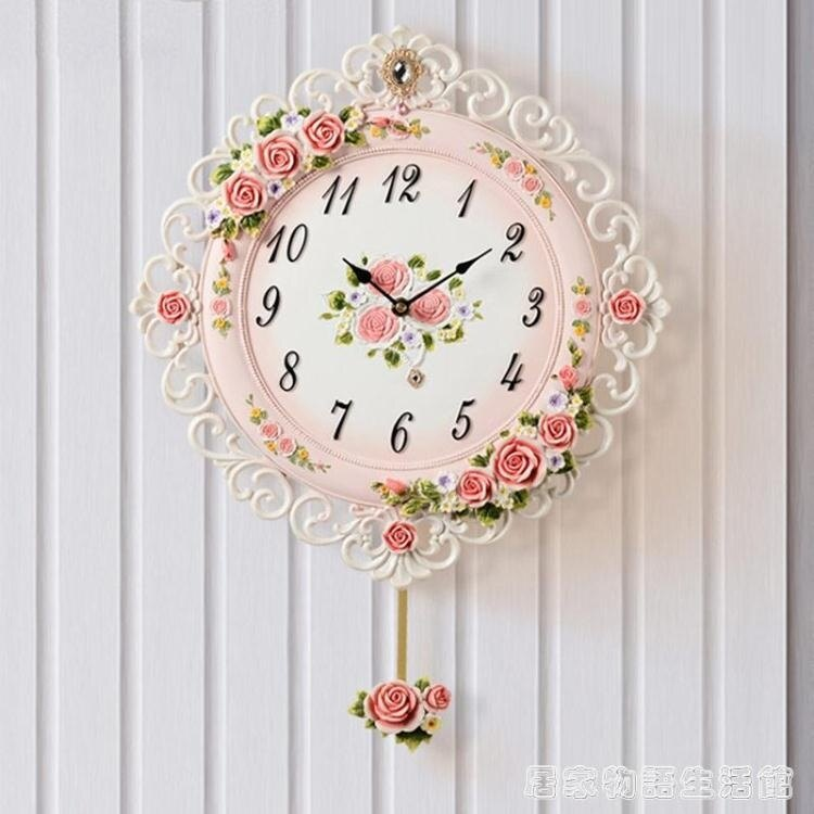 創意掛鐘客廳臥室鐘表靜音簡約時尚現代歐式時鐘  居家物語