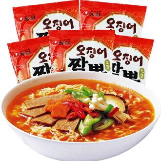 有樂町進口食品 農心 魷魚炒碼麵 內銷版 韓式經典口味 124g 88010430154110