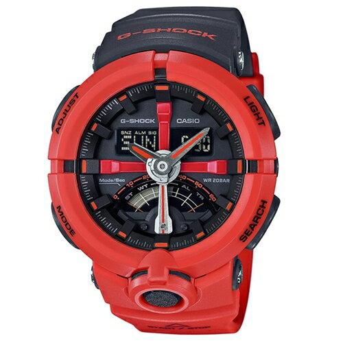 CASIO G-SHOCK 城市地標風格運動腕錶/GA-500P-4A