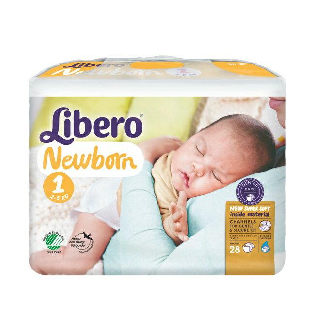 【Libero麗貝樂】黏貼式嬰兒紙尿褲(NB/1號)(28P/包)