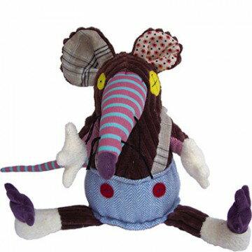 【全新品3折出清】法國【 DEGLINGOS】10吋布偶 - 老鼠