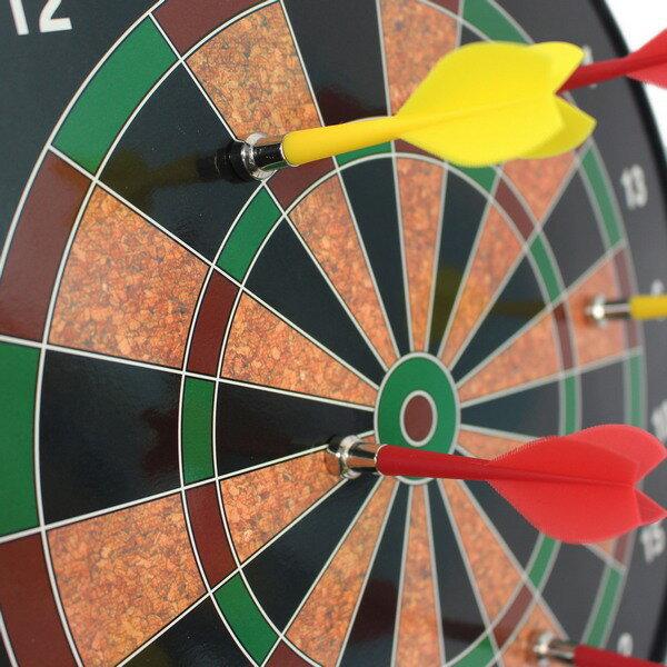 磁性飛鏢靶 磁鐵鏢針附6支 直徑34.5cm / 一個入(促450) 安全飛鏢盤 磁鐵飛鏢靶 磁鐵飛標盤-CF15162 3