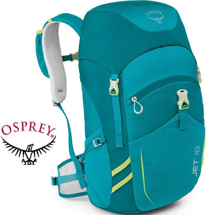 Osprey Jet 18 兒童款 書包/日用後背包/電腦包 18升淘氣鬼後背包 水鴨藍