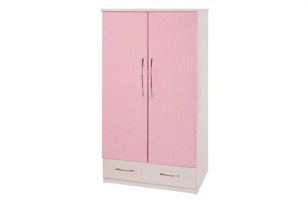 【石川家居】824-08(粉紅白色)衣櫥(CT-105)#訂製預購款式#環保塑鋼P無毒防霉易清潔