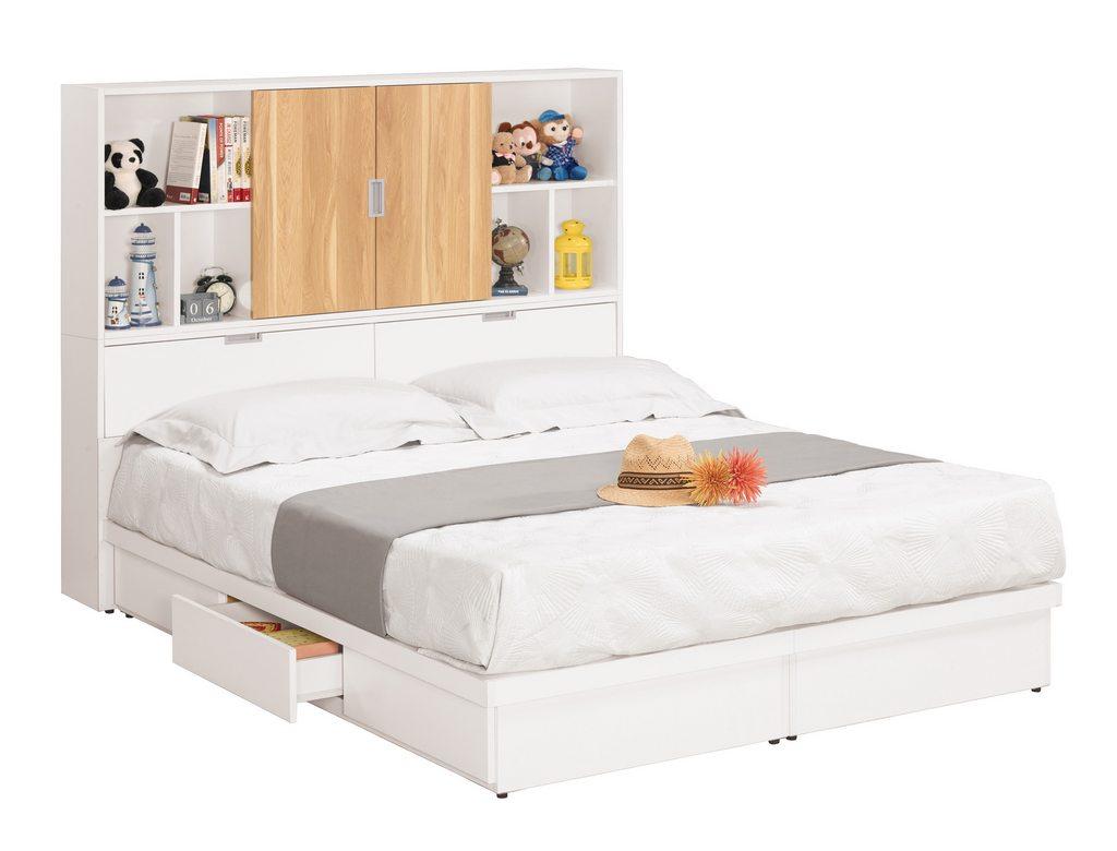 【 尚品傢俱】CM-700-1 卡爾5尺書架型雙人床 / 3.5尺書架型單人床