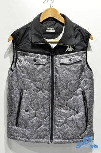 【登瑞體育】KAPPA男款鋪棉保暖背心_C57659297