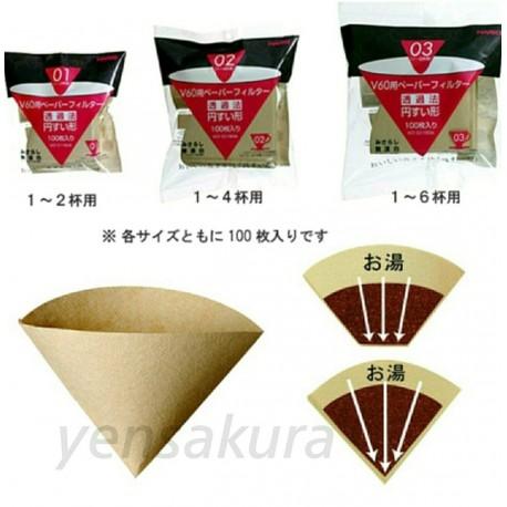 HARIO咖啡濾紙100枚入1-4杯無漂白 日本製4977642723351【野櫻花】