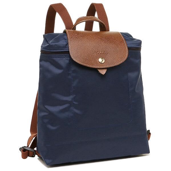 【LONGCHAMP】 LE PLIAGE 深藍折疊後背包