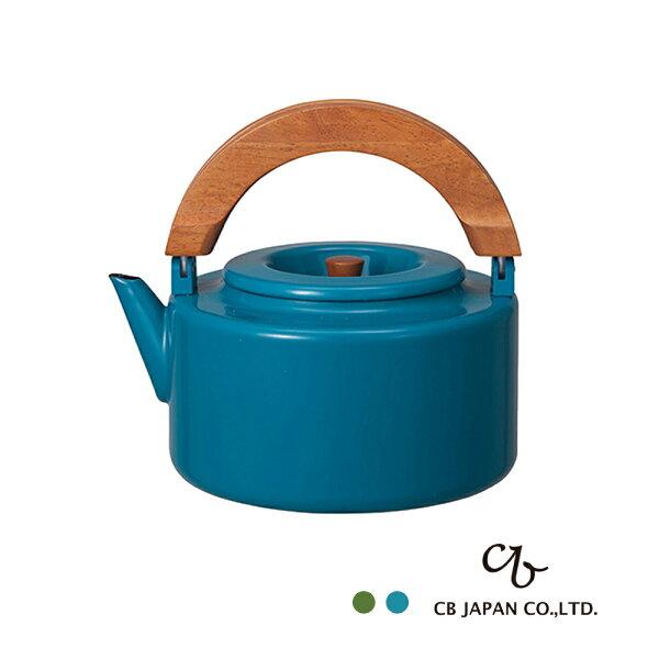 日本露營水煮壺琺瑯野餐CB北歐系列琺瑯原木泡茶兩用壺完美主義【CB006】
