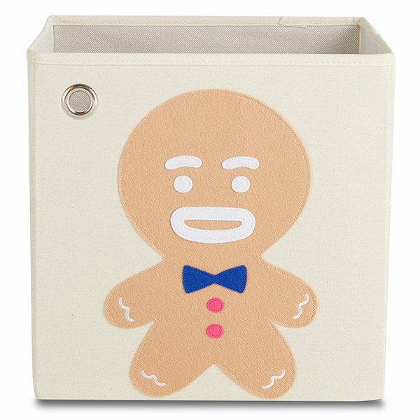 美國【KAIKAI&ASH】節慶系列收納箱-夢幻童話薑餅人摺疊收納箱玩具收納箱整理箱設計風棉麻不織布