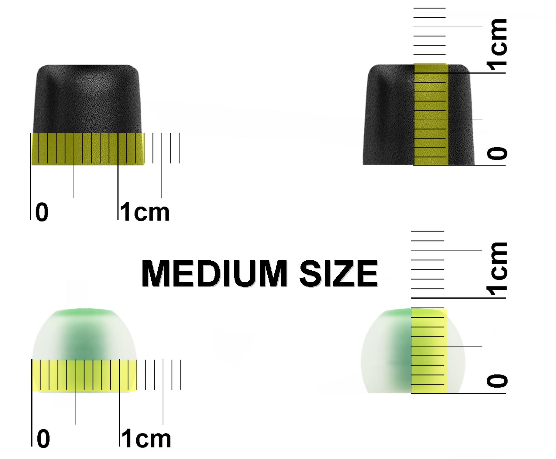 45221f5ac63 NICKSTON: 12pcs (NSY-BMF-sB) S/M/L Premium Memory Foam and Silicone ...