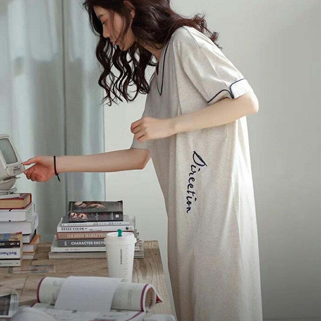 精梳棉- 韓版寬鬆顯瘦居家服睡裙 M-XL(中大尺碼可穿)【漫時光】(G072)★裙裝熱銷NO.1★ 8