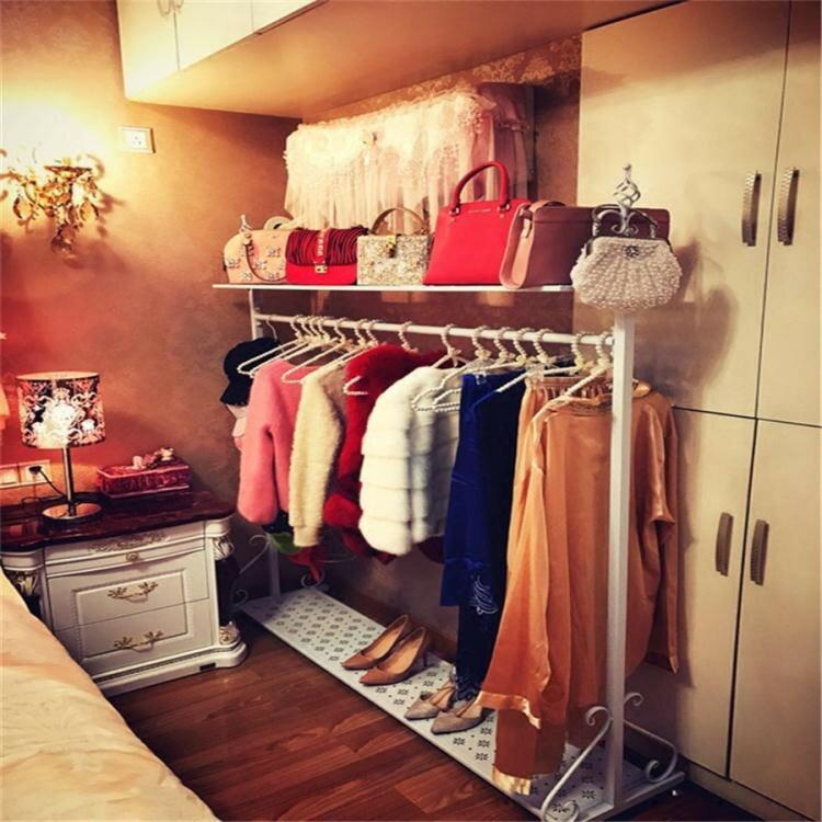 歐式鐵藝衣帽架掛衣架落地臥室內家用創意服裝店簡易衣服架子ATF 「 」