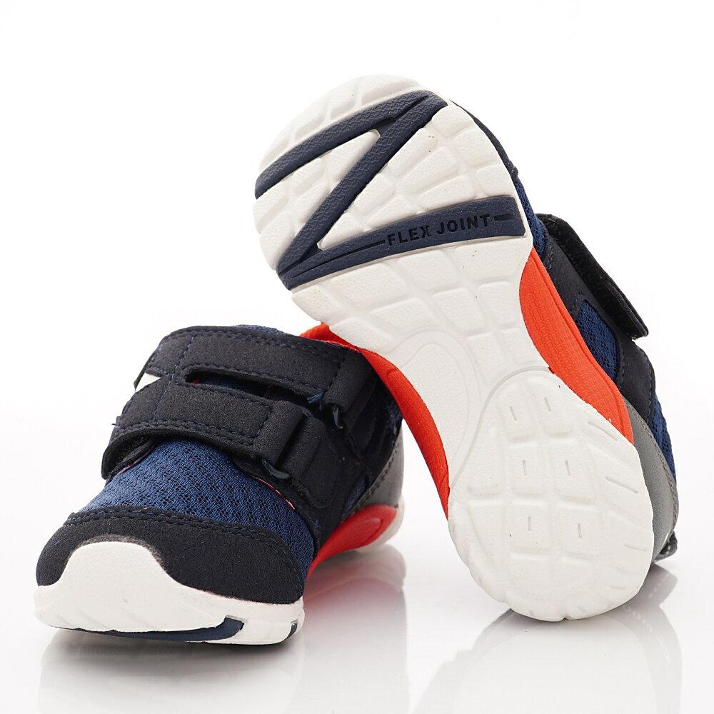 日本月星頂級童鞋 四大機能抗菌運動鞋款-MSC216635深藍(中小童段) 6