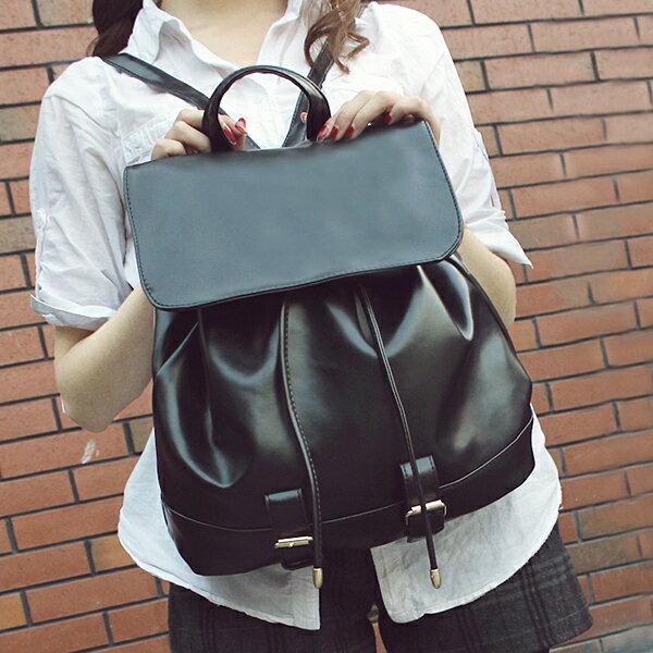 素面英倫風 休閒兩用 同款手提包 後背包G0068 ◆ 雅韓時尚館